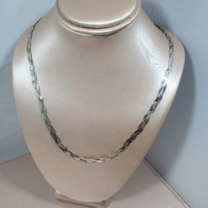 Jewelry - Nwot braided snake chain silver necklace